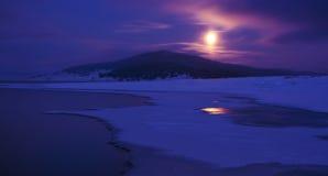 Moon light. Landscape shot on moon light Stock Image