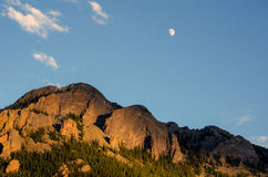 Moon light over the Rocky Mountains Royalty Free Stock Image