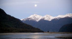 Moon-Lit Mountains Royalty Free Stock Photography