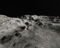 Moon Lunar Landscape Rocky Background Royalty Free Stock Photos