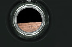 Moon, Mars of alien planet landscape. View from spaceship. Elements of this image furnished by NASA stock photo
