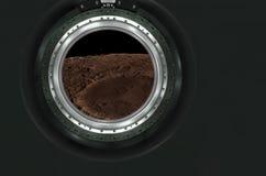 Moon, Mars of alien planet landscape. Royalty Free Stock Photo