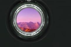 Moon, Mars of alien planet landscape. Royalty Free Stock Image