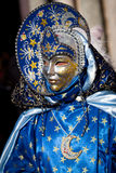 Moon mask. In San Marco's plaza, Venice, during carnival Royalty Free Stock Photography