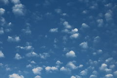 Moon in Morning Sky Royalty Free Stock Photos