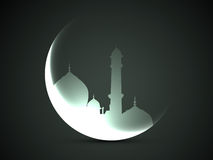 Moon and mosque Stock Photo
