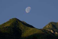Moon and Mountain Royalty Free Stock Photos