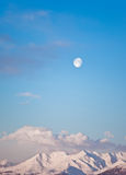 Moon and mountain landscape Royalty Free Stock Photos
