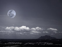 Moon and mountains Royalty Free Stock Image