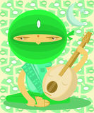 Moon Musician Royalty Free Stock Image