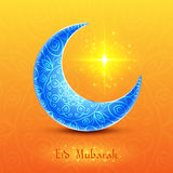 Moon for Muslim Community Festival Eid Mubarak. On Colorful Background. Vector Design Royalty Free Stock Photo
