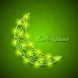 Moon for Muslim Community Festival Eid Mubarak Royalty Free Stock Photography
