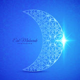 Moon for Muslim community festival Eid Mubarak Stock Photos
