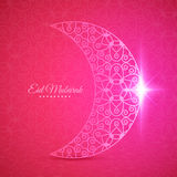 Moon for Muslim community festival Eid Mubarak Royalty Free Stock Images