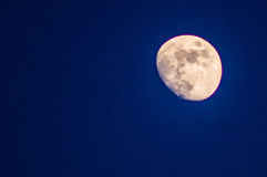Moon 2. New moon over Gothenburg Sweden Royalty Free Stock Images