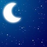 Moon at the night Royalty Free Stock Image
