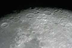 Moon at night. Astrophotography. Moon by the telescope Stock Images