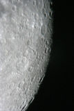 Moon at night. Astrophotography. Moon by the telescope Royalty Free Stock Image