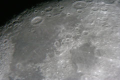 Moon at night. Astrophotography. Moon by the telescope Royalty Free Stock Photography