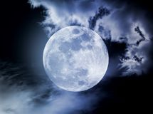 Moon in the night Royalty Free Stock Photos