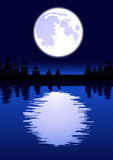 Moon in the night Stock Image