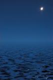 Moon in the night Stock Photo