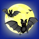 Moon night and bat vampire Royalty Free Stock Photography