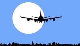 Moon & Night Flight-Vector Stock Photography