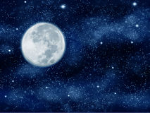 Moon night Royalty Free Stock Photography