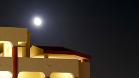 The moon at night Royalty Free Stock Photo