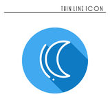 Moon night line simple icon. Weather symbols. Dream, sleep. Design element. Template for mobile app, web and widgets. Vector style linear icon. Illustration Stock Images
