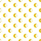 Moon night pattern seamless. In flat style for any design Stock Photography