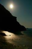 Moon night on the sea Royalty Free Stock Image