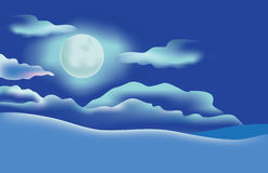 Moon in the night sky Royalty Free Stock Photography