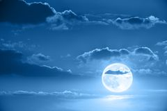 Moon in night sky Royalty Free Stock Image