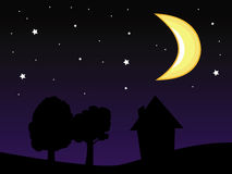 Moon night sky Royalty Free Stock Images