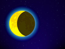 Moon on night sky. Moon on the night sky Royalty Free Stock Photos