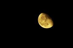 Moon in night sky stock photos