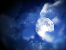 Moon Night Sky 5. An image of a moon within some nightime clouds Stock Image