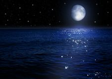 Moon in the night sky vector illustration