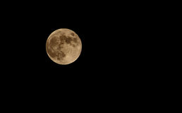 Moon in night sky Stock Images
