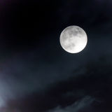 Moon at night sky Royalty Free Stock Images