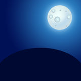 Moon in the night sky. Illustration that may be used as a background Royalty Free Stock Image
