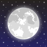 Moon in the night sky Royalty Free Stock Image