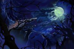 Moon Night. Stock Photos