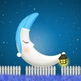 Moon with nightcap Stock Image