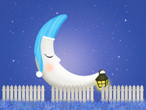 Moon with nightcap Royalty Free Stock Photography