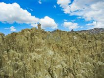 Moon o la luna de valle de do vale em La Paz Bolívia foto de stock royalty free