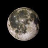 Moon o planeta do sistema solar na rendição preta do fundo 3d Fotografia de Stock