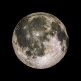 Moon o planeta do sistema solar na rendição preta do fundo 3d Imagens de Stock Royalty Free